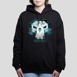 The Punisher Personalize Women's Hooded Sweatshirt