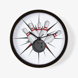 Bowling Strike Wall Clock