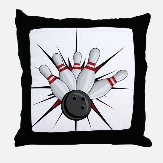 Bowling Strike Throw Pillow