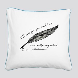 Write My Mind Square Canvas Pillow