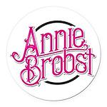 Ab Logo (pink Print, Black Round Car Magnet
