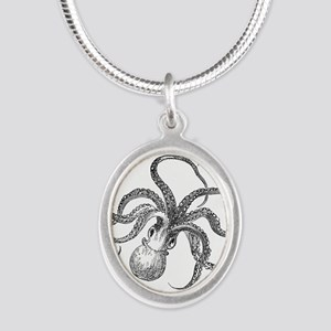 Vintage Octopus Ocean Life Black White Necklaces