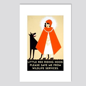 Little Red Riding Hood, P Postcards (Package of 8)