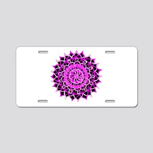 Sunburst Mandala 1 Aluminum License Plate