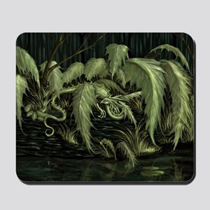 green leaf dragon Mousepad