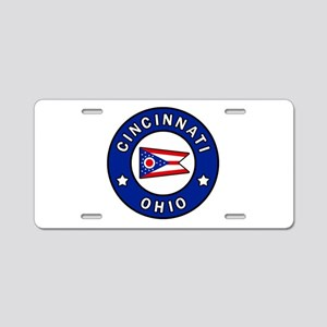 Cincinnati Ohio Aluminum License Plate