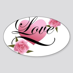Pink Love Rose Sticker