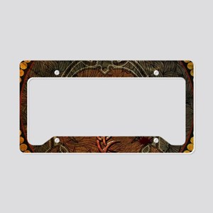 Awesome tiger, tribal design License Plate Holder