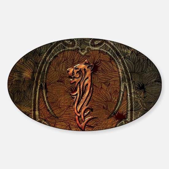 Awesome tiger, tribal design Decal