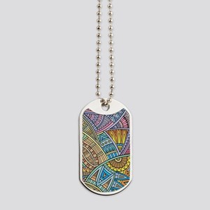 Colorful Abstract Dog Tags