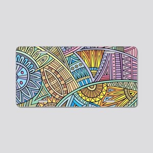 Colorful Abstract Aluminum License Plate