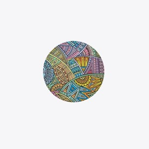 Colorful Abstract Mini Button