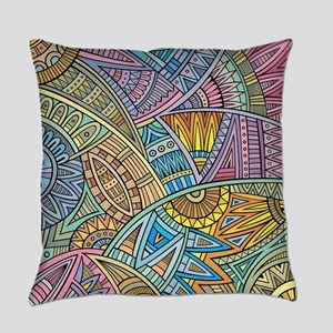 Colorful Abstract Everyday Pillow