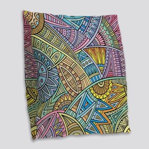 Colorful Abstract Burlap Throw Pillow
