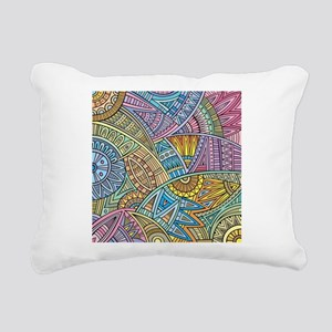 Colorful Abstract Rectangular Canvas Pillow