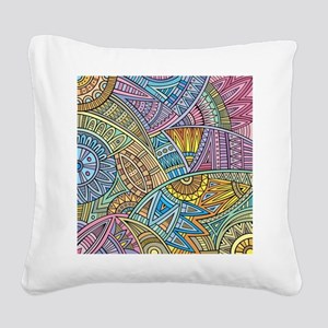 Colorful Abstract Square Canvas Pillow
