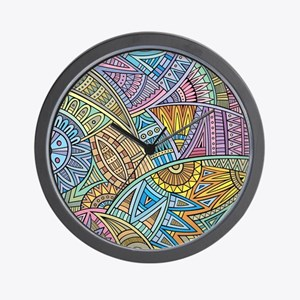 Colorful Abstract Wall Clock