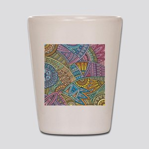 Colorful Abstract Shot Glass