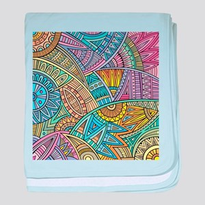 Colorful Abstract baby blanket