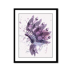 Purple Headdress Framed Panel Print