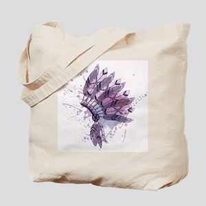 Purple Headdress Tote Bag