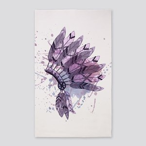 Purple Headdress Area Rug