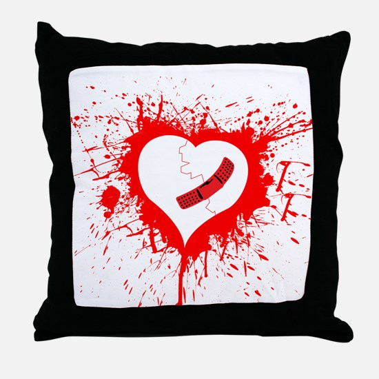 Broken Hearted again Throw Pillow