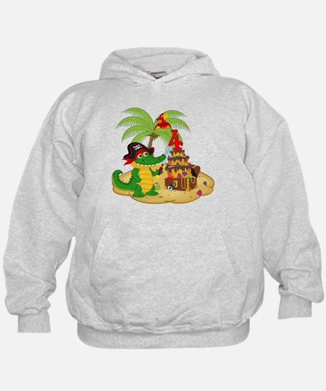 Pirate 4th Birthday Hoodie