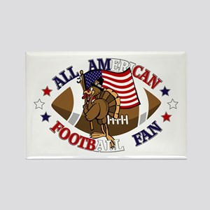 All American Football Rectangle Magnet