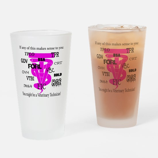 abbreviations Drinking Glass