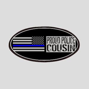 Police: Proud Cousin (Black Flag Blue Line) Patch