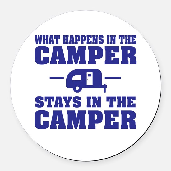 Unique Camping Round Car Magnet