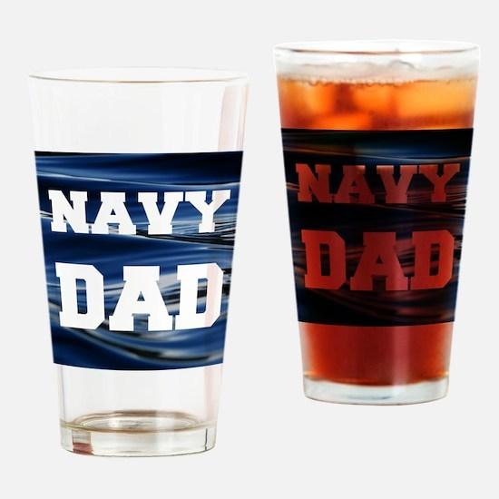 Navy Dad Drinking Glass