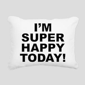 Happy Rectangular Canvas Pillow