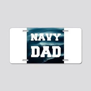 Navy Dad Aluminum License Plate