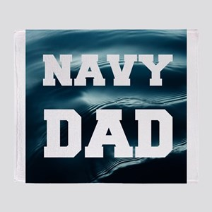 Navy Dad Throw Blanket