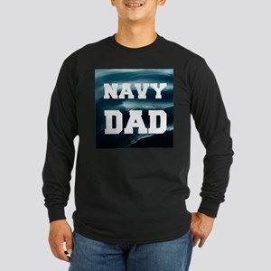 Navy Dad Long Sleeve T-Shirt