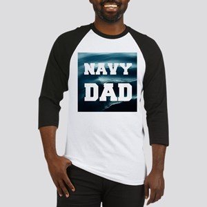 Navy Dad Baseball Jersey