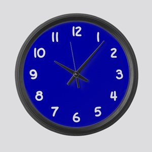 Cobalt Blue and White Large Wall Clock