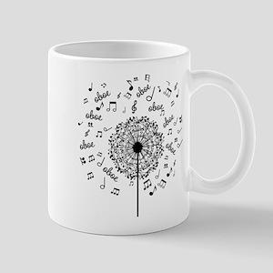 Oboe Player Music dandelion Mugs