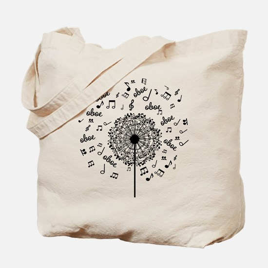 Oboe Player Music dandelion Tote Bag