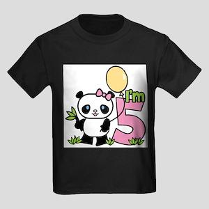 Lil' Panda Girl 5th Birthday T-Shirt