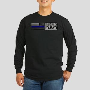 Police: Proud Dad (Black Flag Blue Line) Long Slee