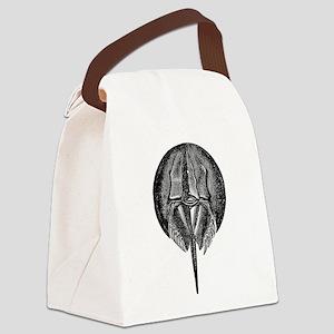 Vintage King Crab Horse Horseshoe Canvas Lunch Bag