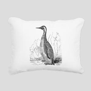 Vintage King Penguin Bi Rectangular Canvas Pillow