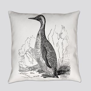 Vintage King Penguin Bird Black W Everyday Pillow