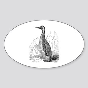 Vintage King Penguin Bird Black White Sticker