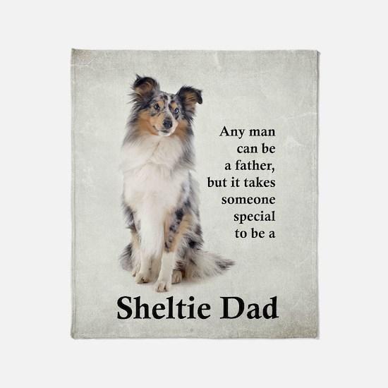 Sheltie Dad Throw Blanket