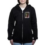 Jonathan Zombie Trading Card Women's Zip Hoodie