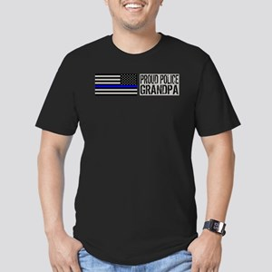 Police: Proud Grandpa Men's Fitted T-Shirt (dark)